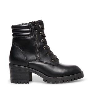DTECE NADDEN Hushh Black Combat Boots